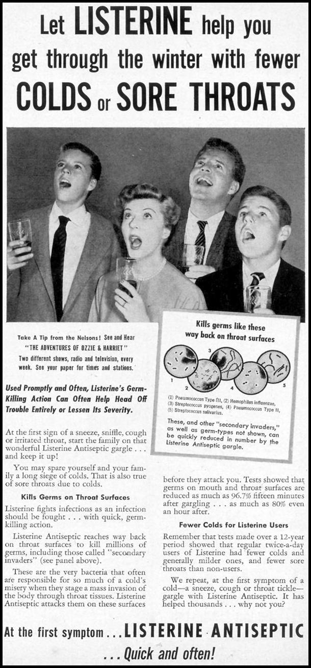 LISTERINE WOMAN'S DAY 03/01/1954 p. 125