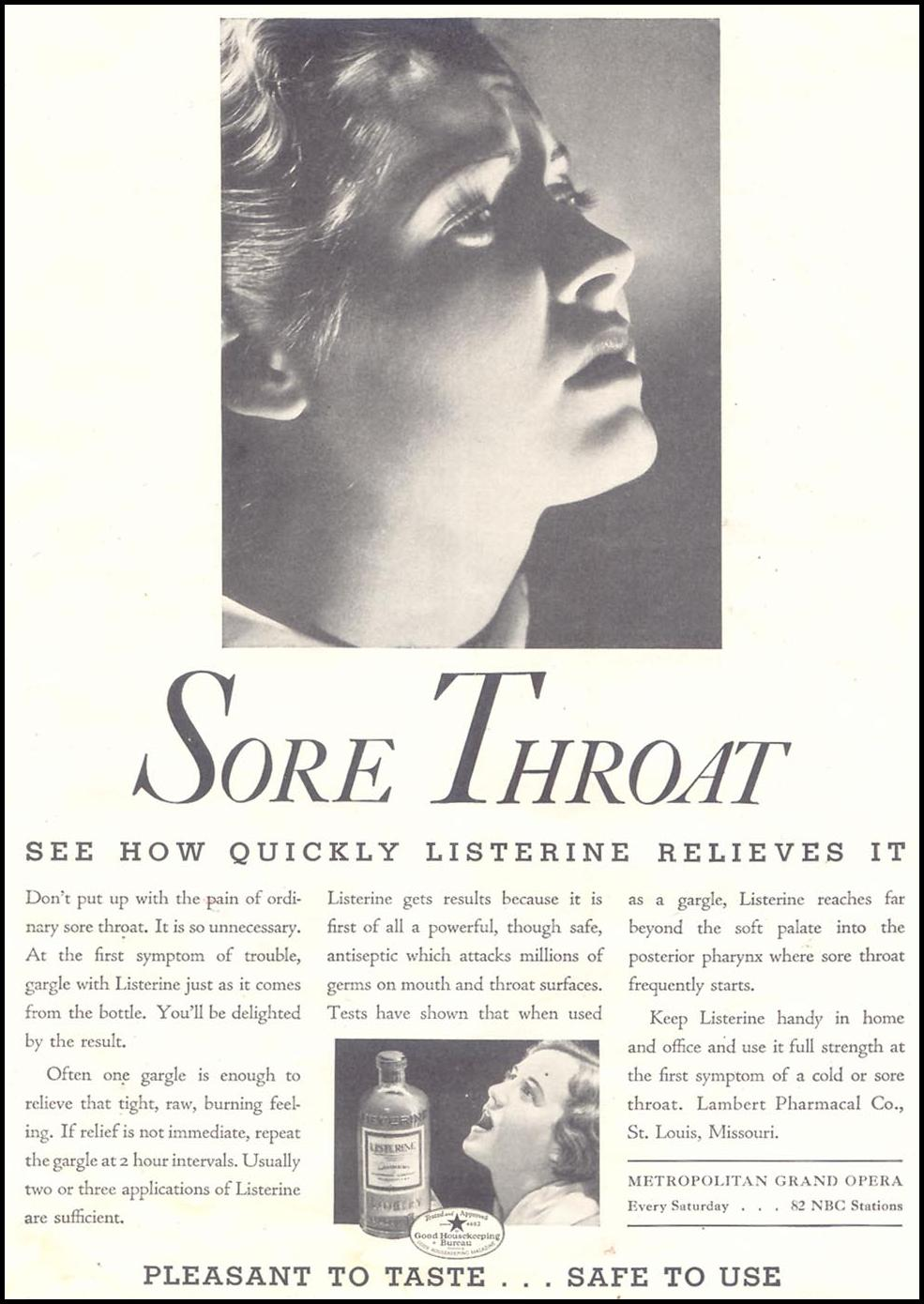 LISTERINE GOOD HOUSEKEEPING 03/01/1935 p. 3