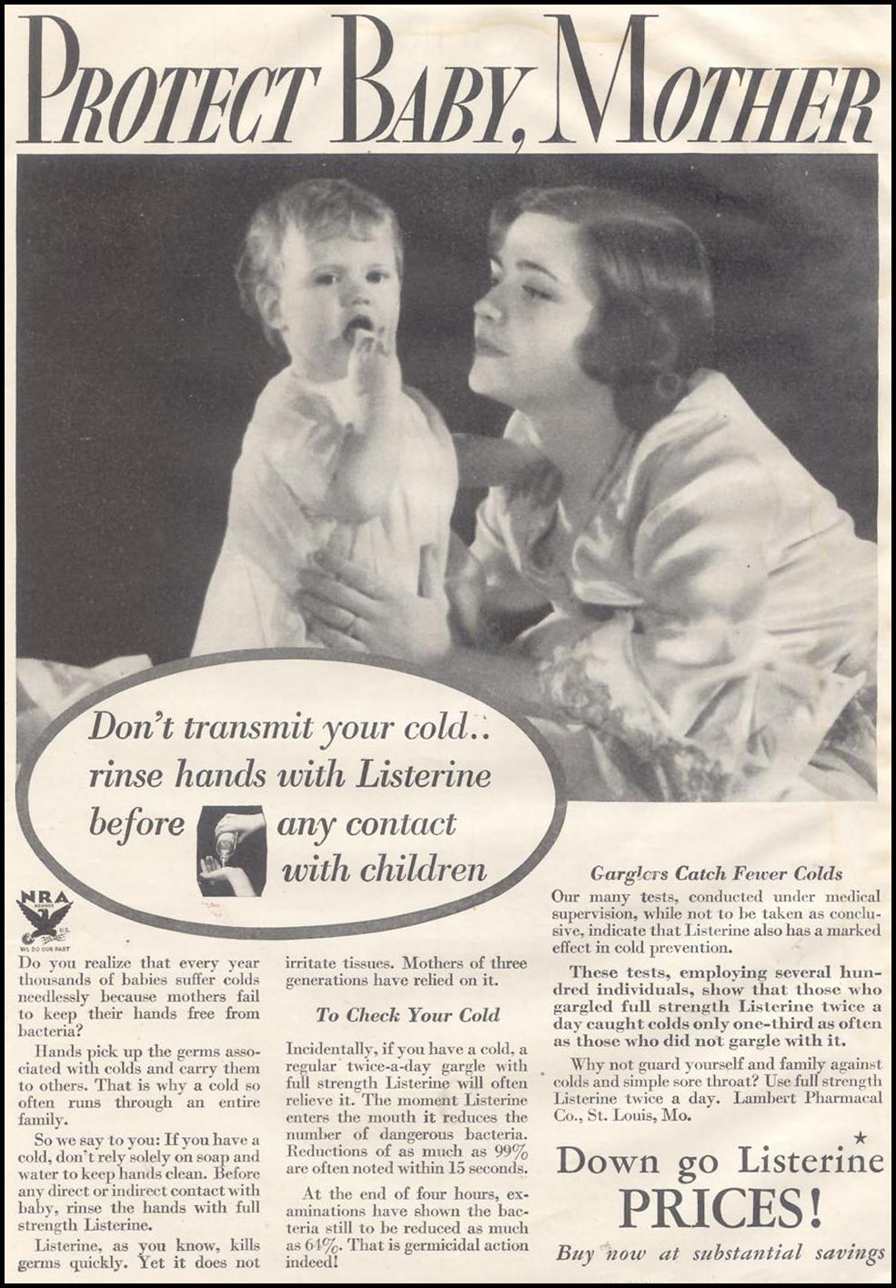 LISTERINE GOOD HOUSEKEEPING 11/01/1933 p. 3