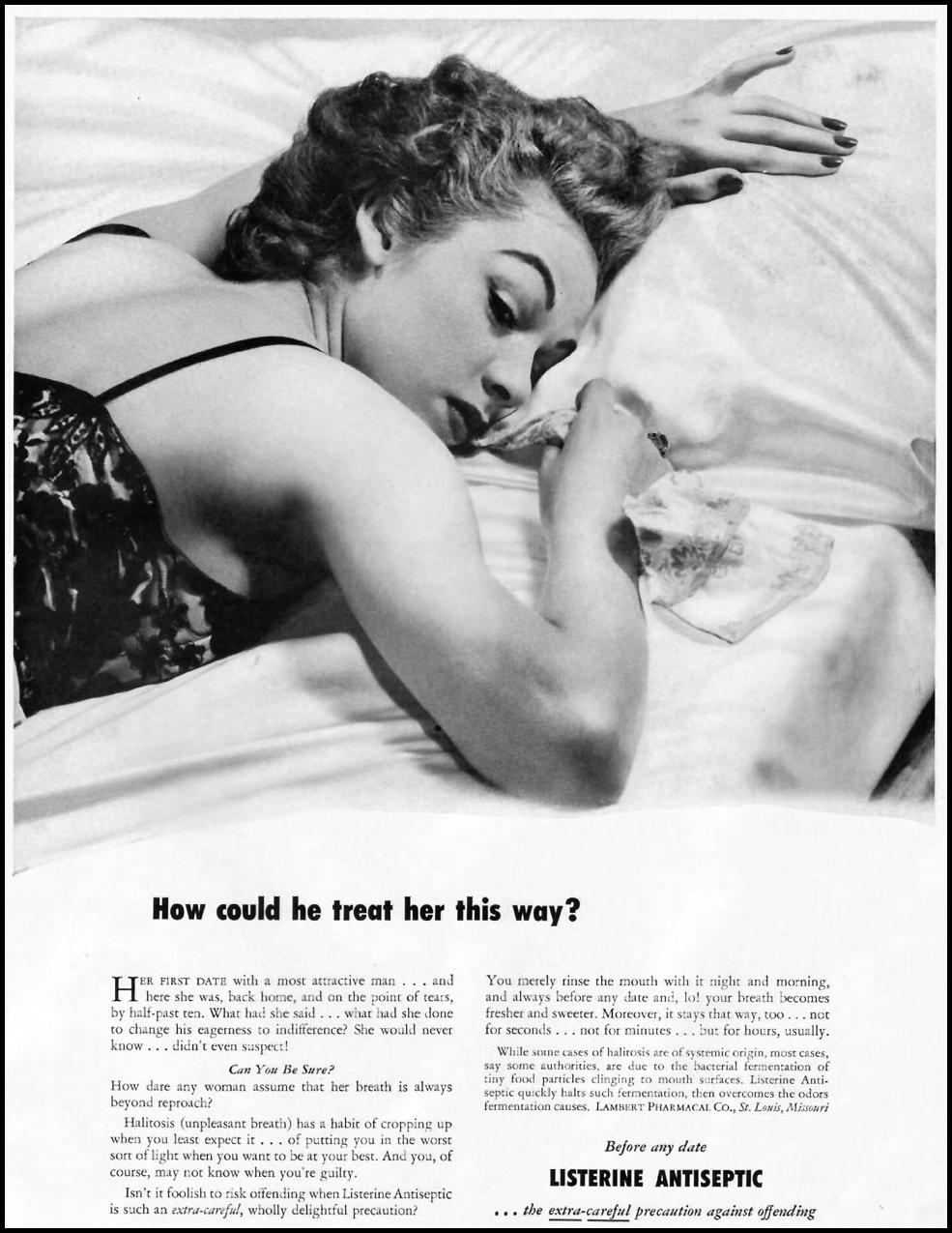 LISTERINE ANTISEPTIC LADIES' HOME JOURNAL 11/01/1950 p. 9