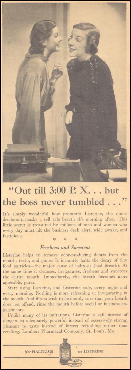 LISTERINE LIBERTY 11/28/1936 p. 33