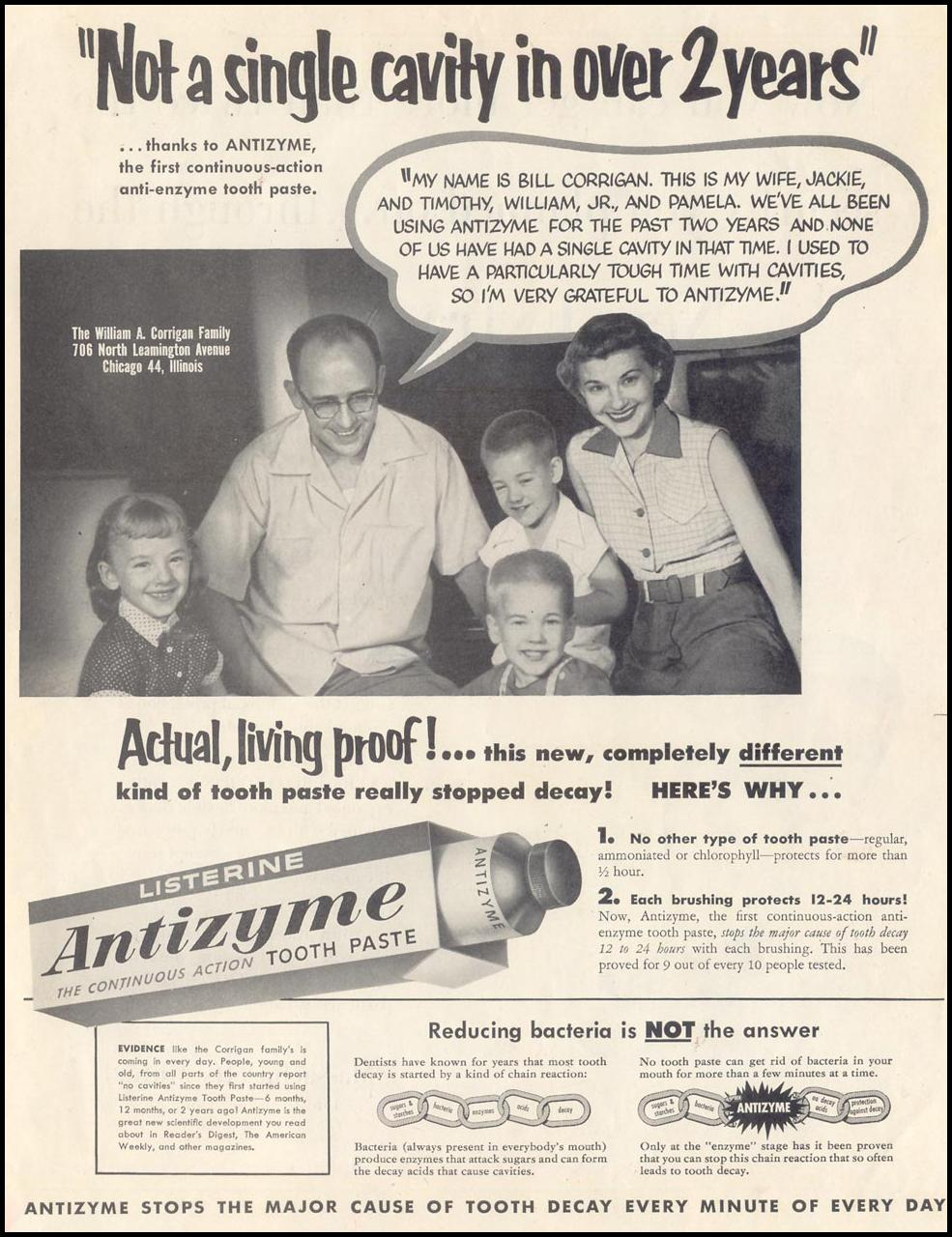 LISTERINE TOOTHPASTE SATURDAY EVENING POST 06/04/1955 p. 1