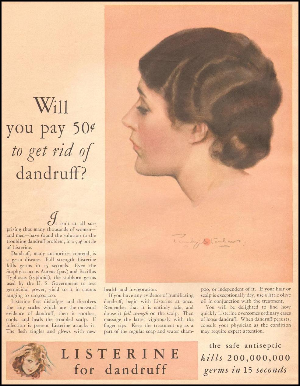 LISTERINE ANTISEPTIC THE HOME MAGAZINE 04/01/1930 p. 14