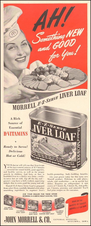 MORRELL E-Z-SERVE LIVER LOAF LIFE 08/04/1941 p. 34