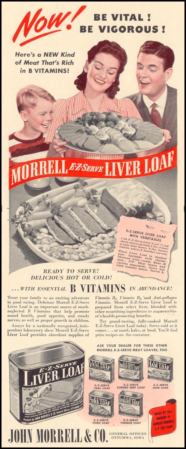 MORRELL E-Z-SERVE LIVER LOAF LIFE 10/13/1941 p. 60
