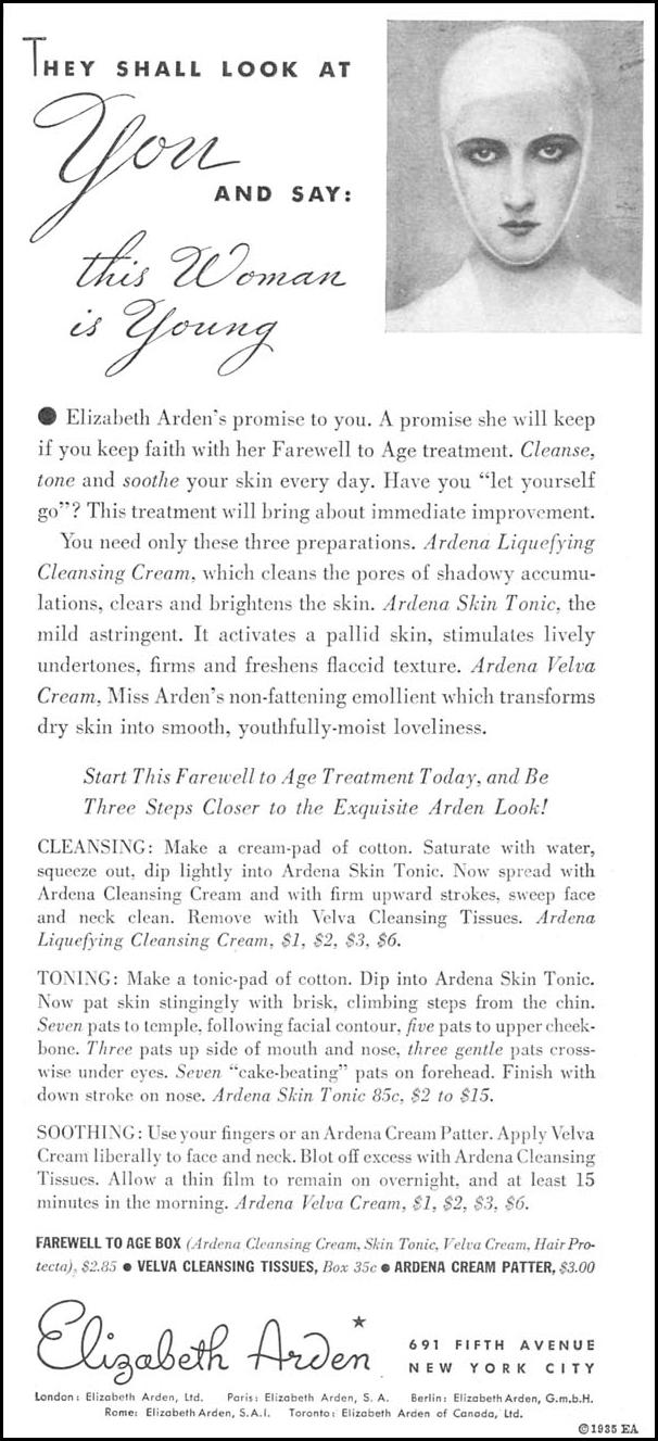 ELIZABETH ARDEN BEAUTY PRODUCTS GOOD HOUSEKEEPING 06/01/1935 p. 217