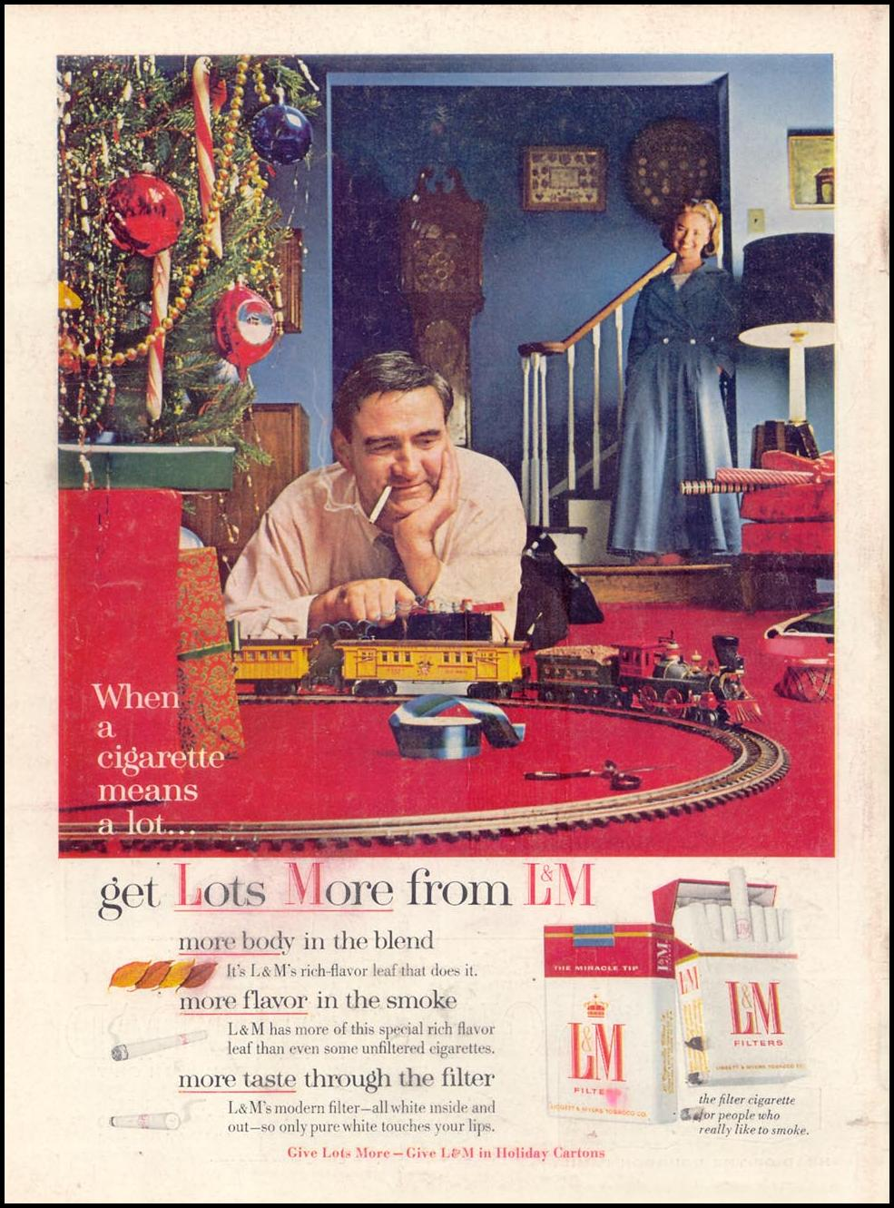 L & M CIGARETTES TIME 12/06/1963 BACK COVER