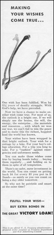 UNITED STATES WAR BONDS WOMAN'S DAY 11/01/1945 p. 117