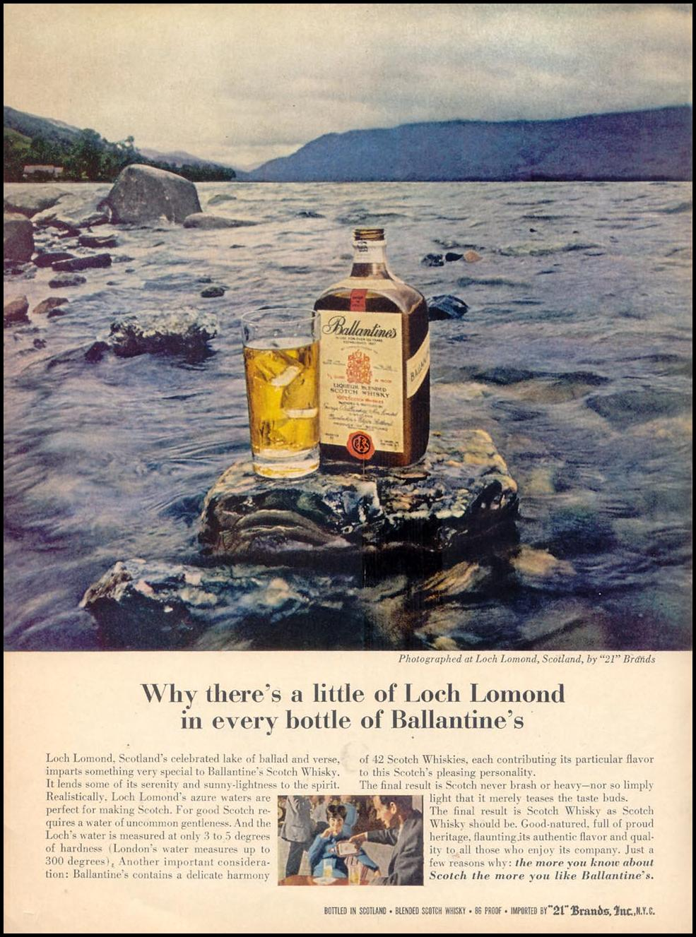 BALLANTINE'S SCOTCH WHISKEY TIME 02/23/1962 p. 18