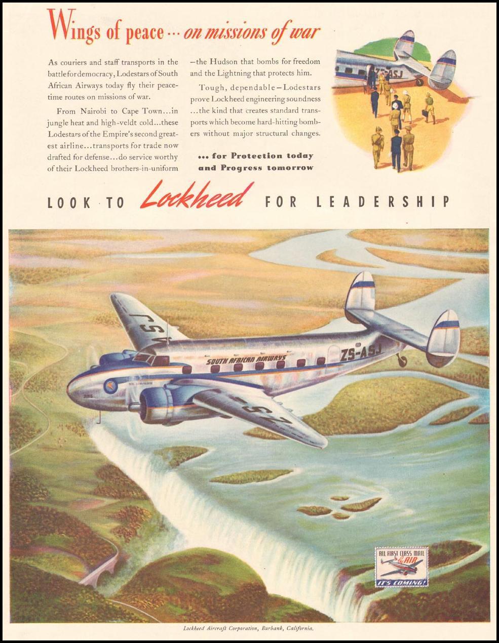 LOCKHEED AIRCRAFT LIFE 09/29/1941