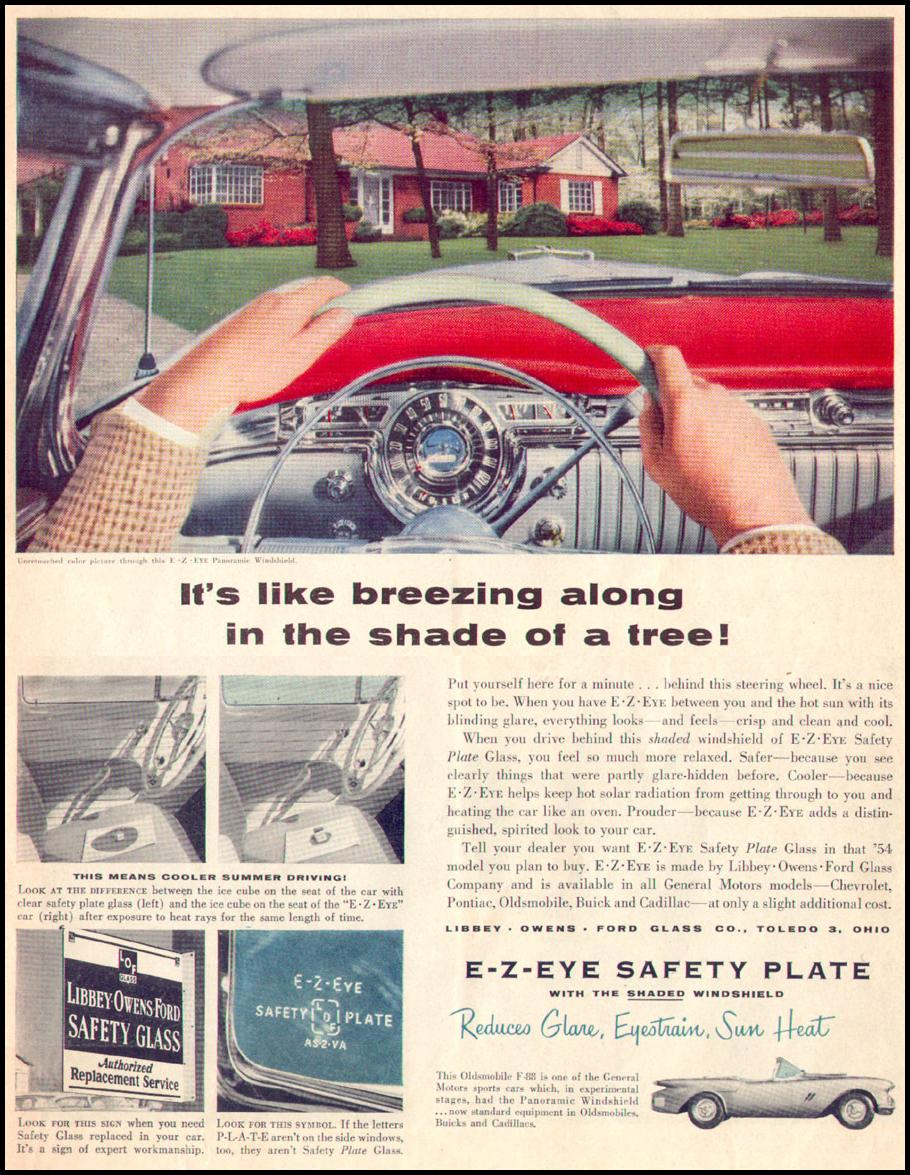 E-Z-EYE SAFETY PLATE GLASS LIFE 07/12/1954