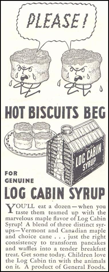 LOG CABIN SYRUP GOOD HOUSEKEEPING 11/01/1933 p. 213