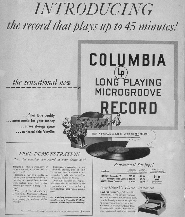 COLUMBIA MICROGROOVE LP RECORD LIFE 10/11/1948 p. 2
