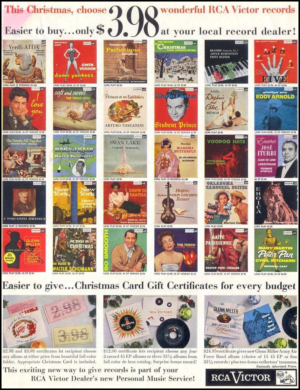 RCA VICTOR RECORDS SATURDAY EVENING POST 12/10/1955