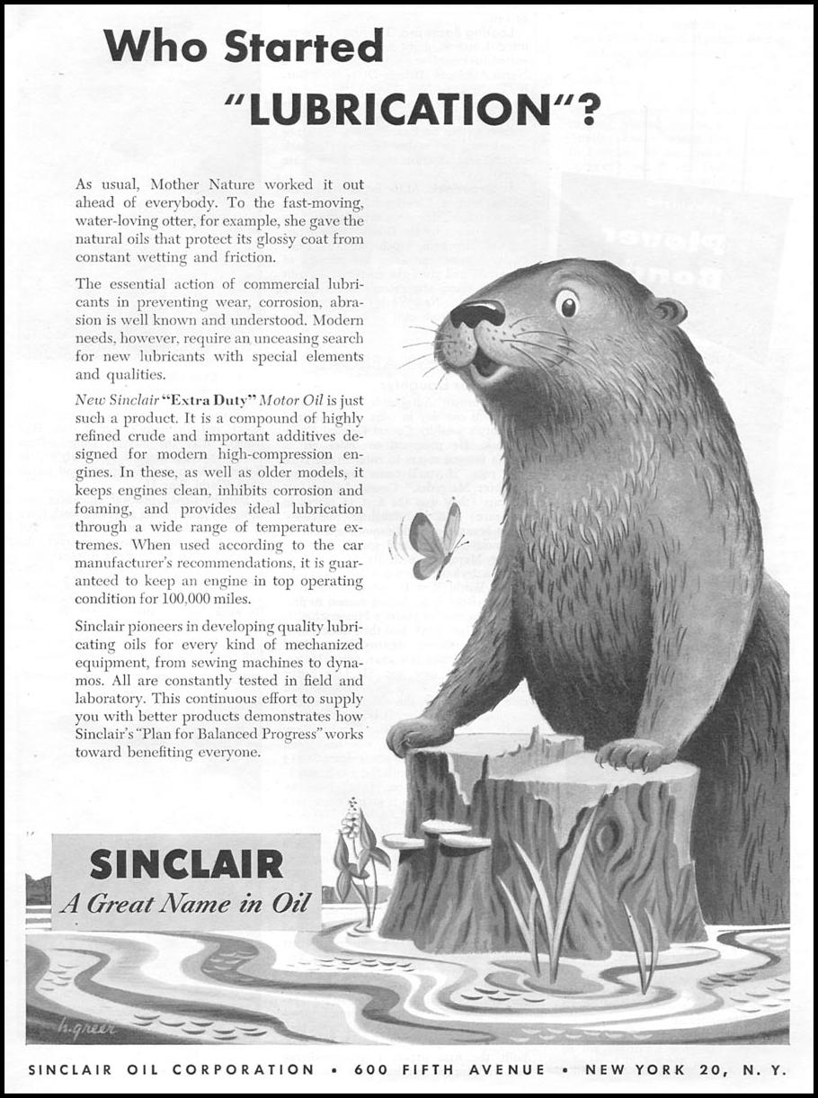 SINCLAIR MOTOR OIL TIME 06/08/1953 p. 99