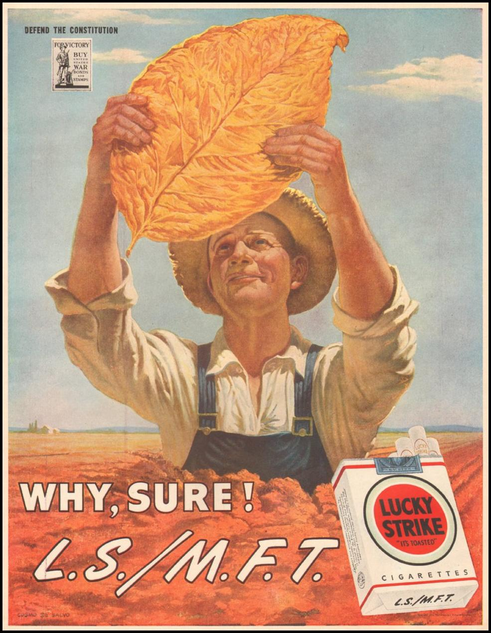 LUCKY STRIKE CIGARETTES LIFE 03/12/1945