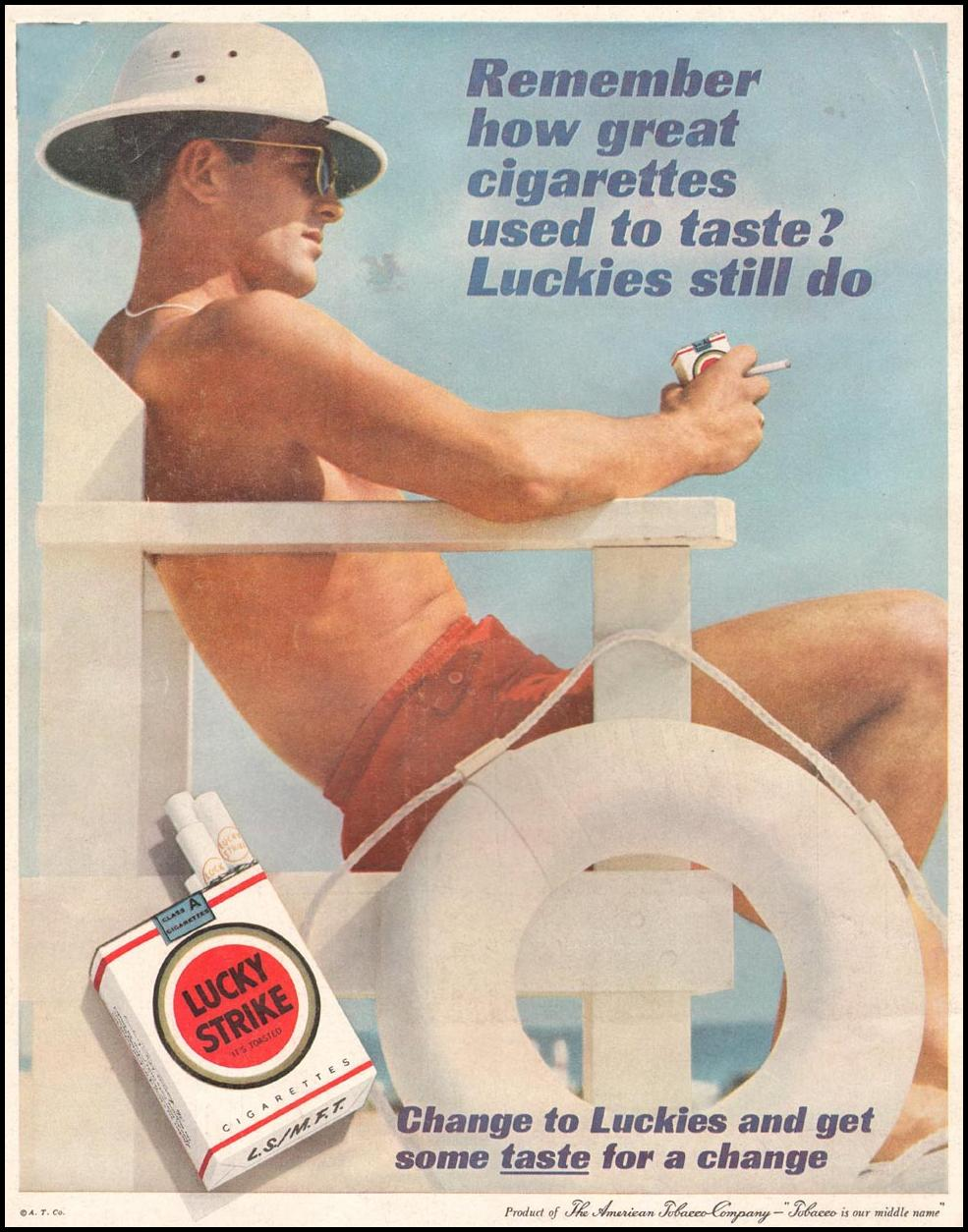 LUCKY STRIKE CIGARETTES LIFE 03/31/1961 BACK COVER