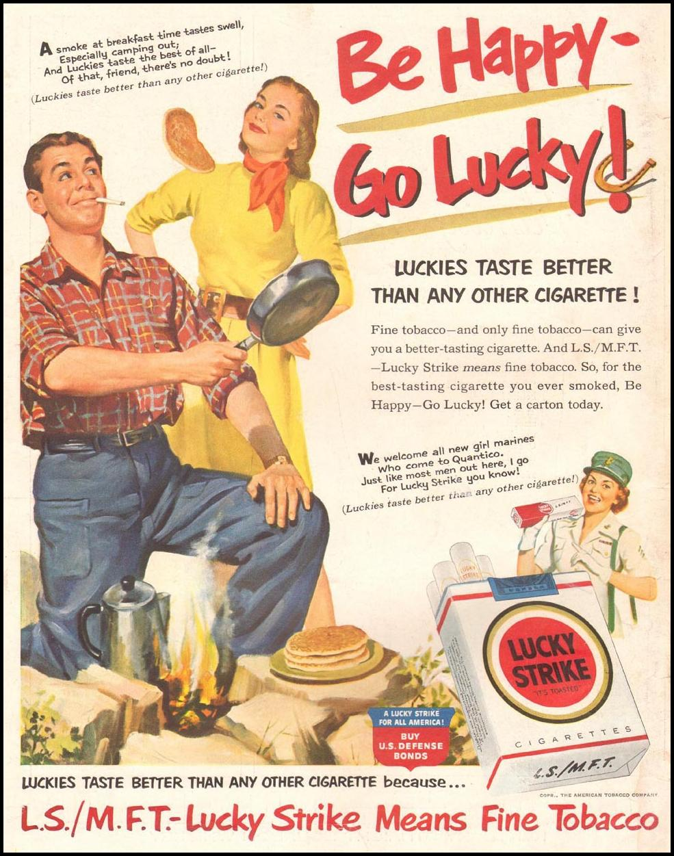 LUCKY STRIKE CIGARETTES LIFE 09/03/1951 BACK COVER