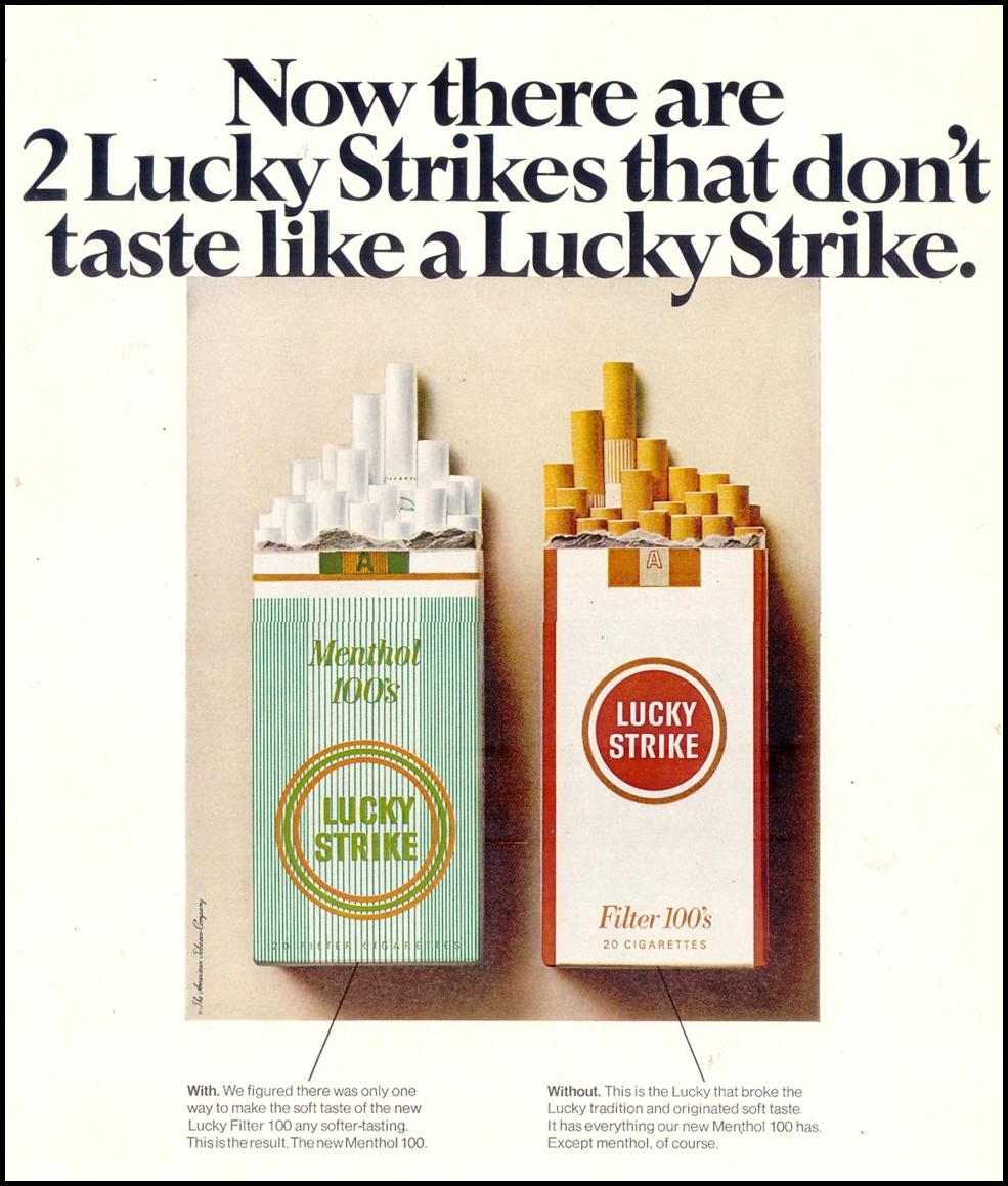 LUCKY STRIKE CIGARETTES LIFE 12/22/1967 p. 51
