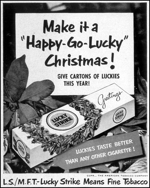 LUCKY STRIKE CIGARETTES LIFE 12/24/1951 p. 62