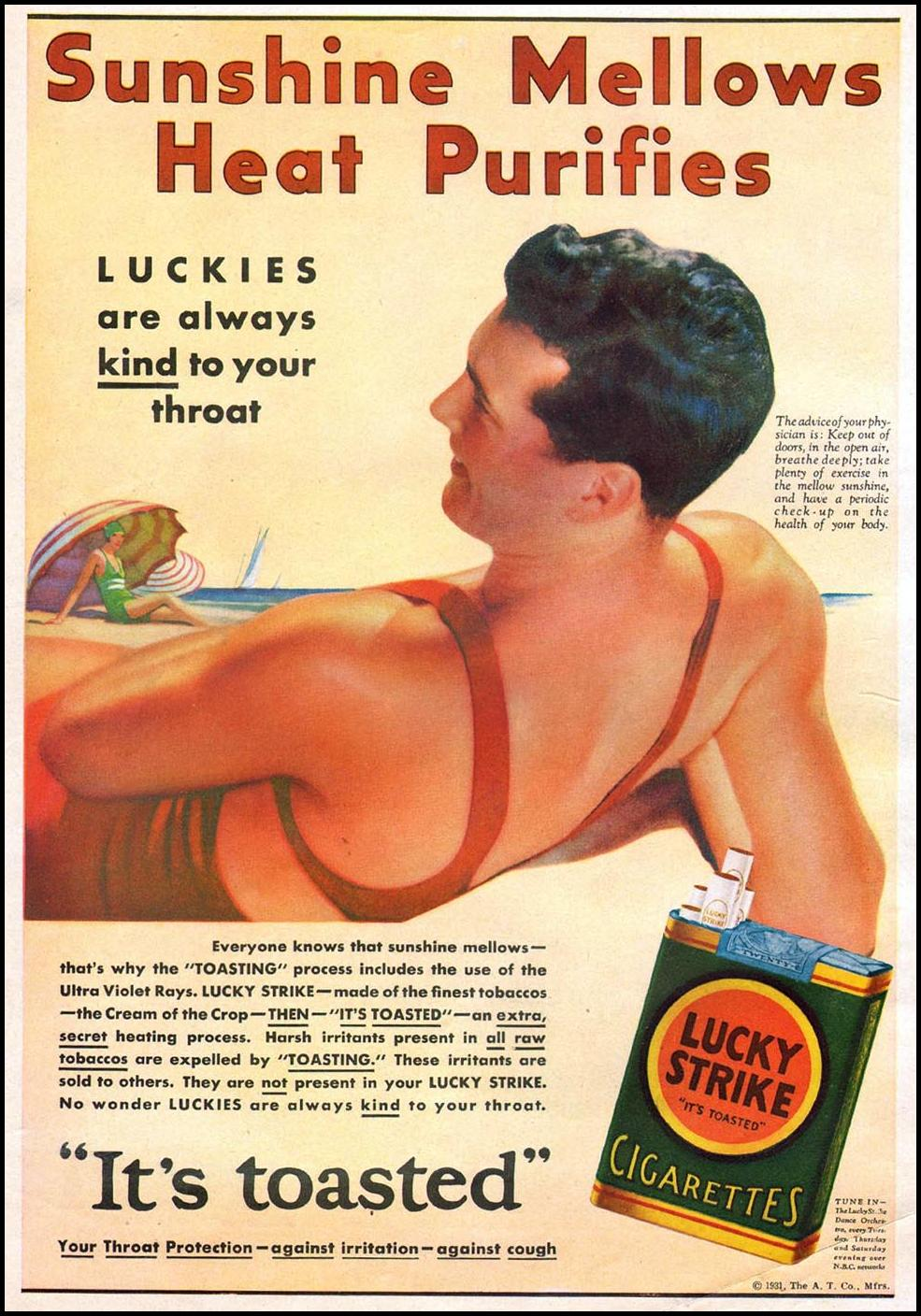 LUCKY STRIKE CIGARETTES THE HOME MAGAZINE 05/01/1931 INSIDE FRONT