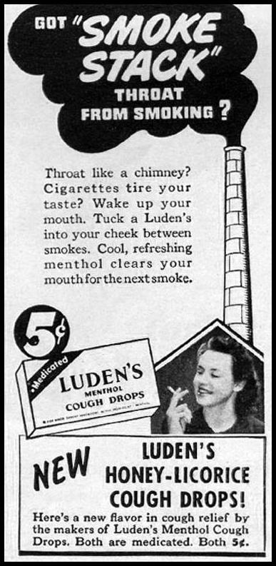 LUDEN'S COUGH DROPS LIFE 06/04/1945 p. 102