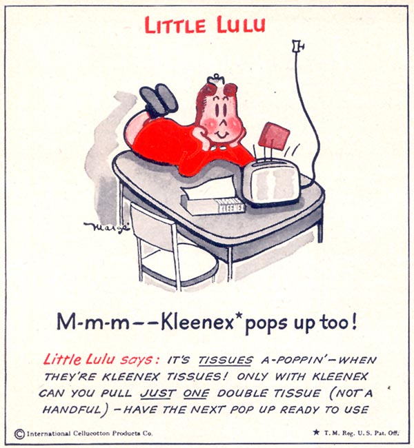 KLEENEX TISSUES WOMAN'S DAY 05/01/1949 p. 126
