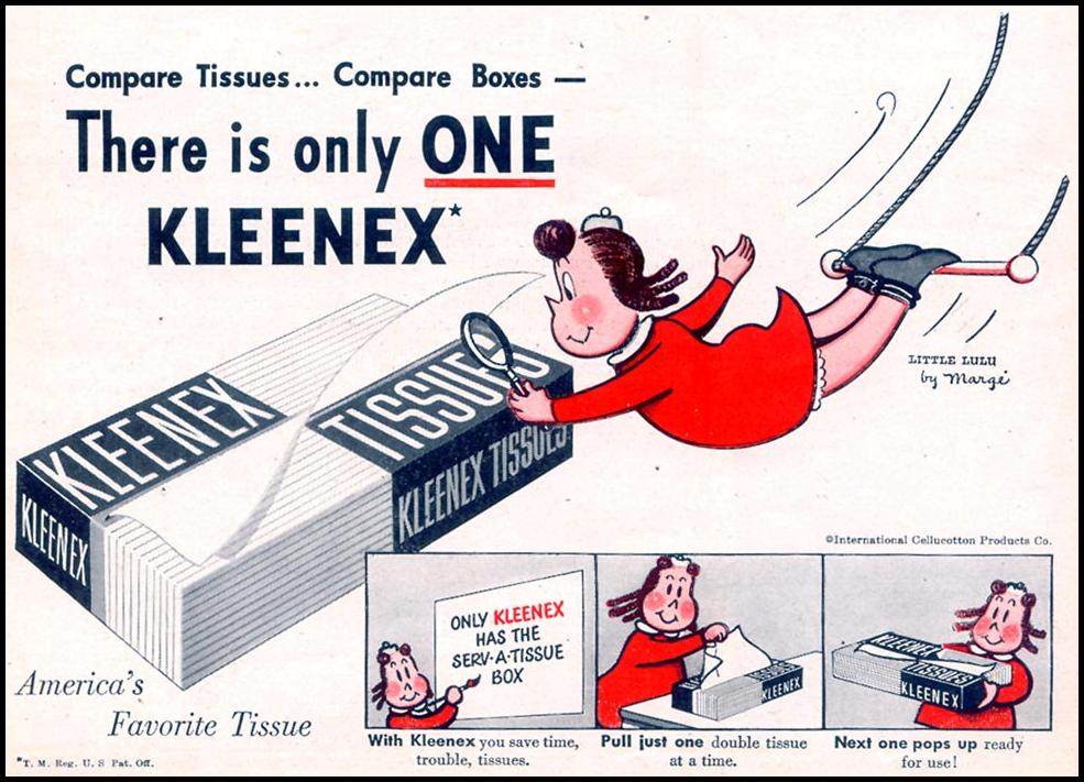KLEENEX TISSUES WOMAN'S DAY 11/01/1948 p. 21