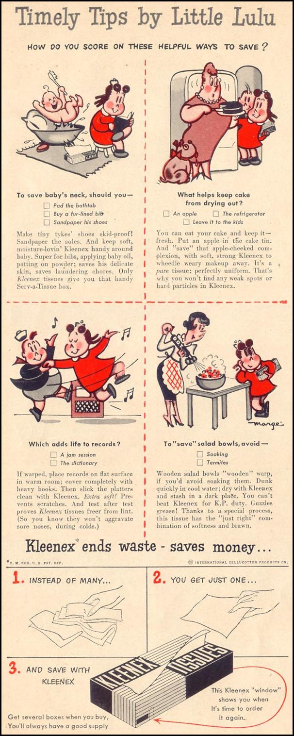 KLEENEX TISSUES LIFE 07/30/1951 p. 8