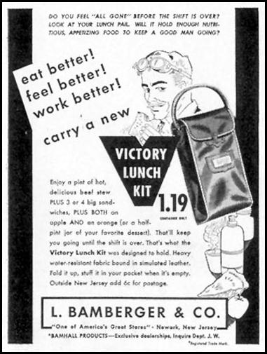 VICTORY LUNCH KIT LIFE 01/18/1943 p. 96