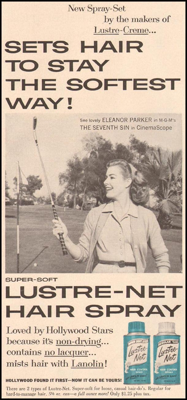 LUSTRE-NET HAIR SPRAY GOOD HOUSEKEEPING 05/01/1957 p. 154