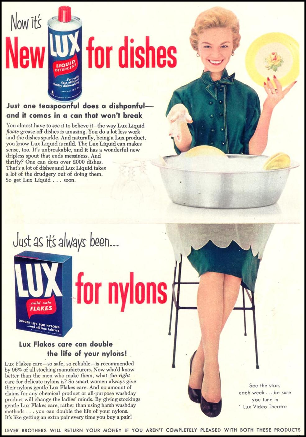 LUX SOAP WOMAN'S DAY 03/01/1954 p. 19