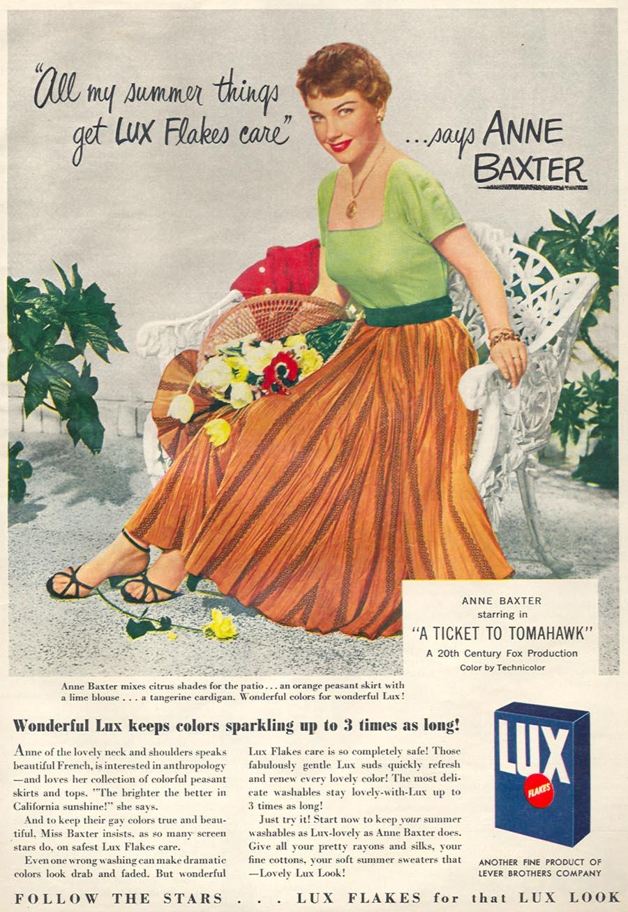 LUX SOAP WOMAN'S DAY 06/01/1950 p. 71