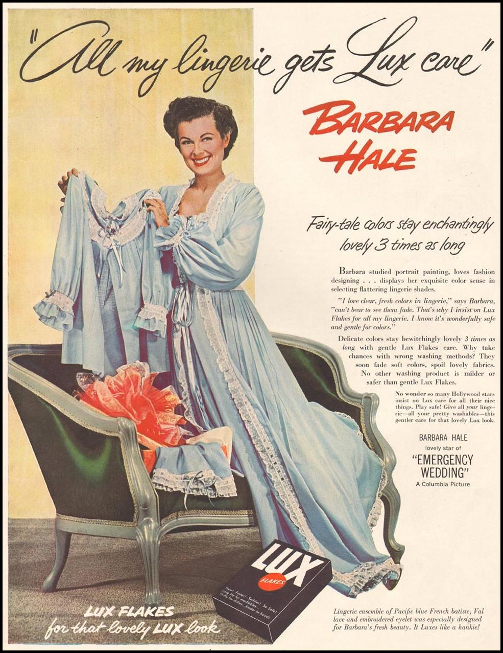 LUX SOAP LADIES' HOME JOURNAL 11/01/1950 p. 119