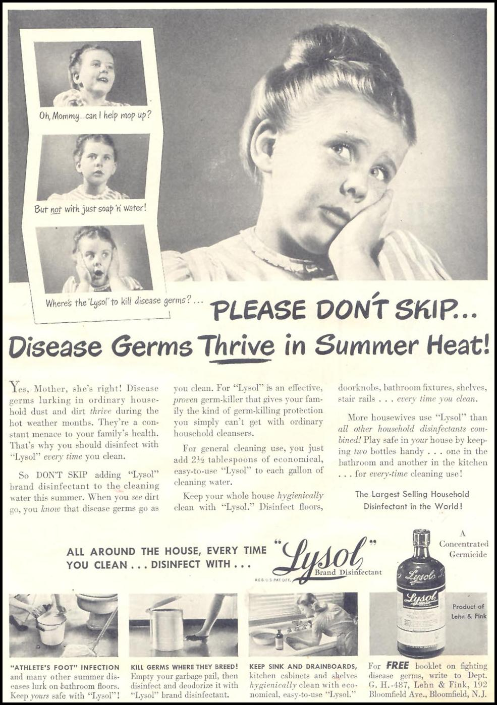 LYSOL GOOD HOUSEKEEPING 07/01/1948 p. 7
