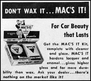 MAC'S CLEANER AND GLAZE KIT LIFE 04/30/1951 p. 111
