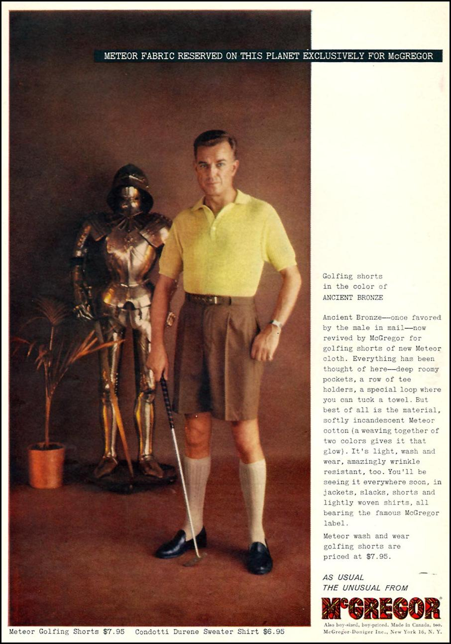 METEOR GOLFING SHORTS SPORTS ILLUSTRATED 04/27/1959 p. 30