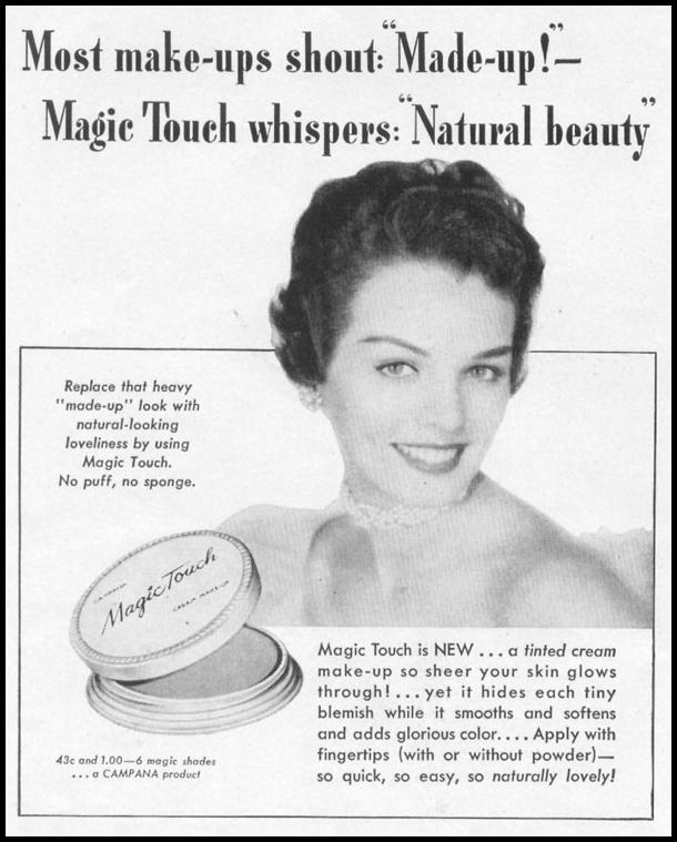 MAGIC TOUCH CREAM MAKE-UP LIFE 10/13/1952 p. 158