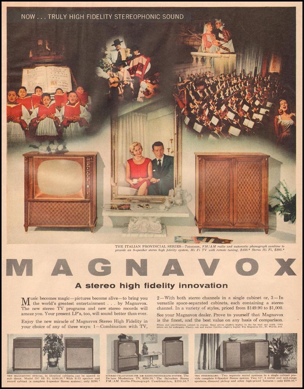 MAGNAVOX TELEVISION LIFE 11/24/1958