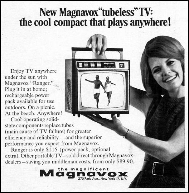 MAGNAVOX TUBELESS TV TIME 04/21/1967 p. 52