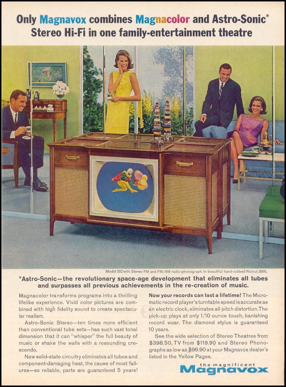 MAGNAVOX MAGNACOLOR COLOR TELEVISION TIME 12/06/1963 p. 53