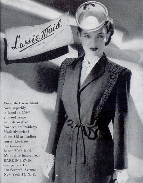 LASSIE MAID COATS LIFE 02/21/1944 p. 46