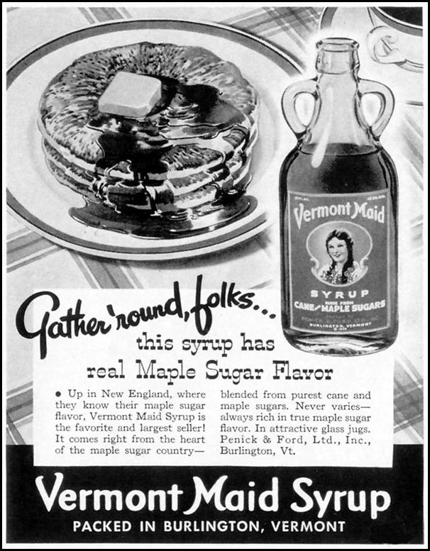 VERMONT MAID SYRUP LIFE 10/13/1941 p. 147