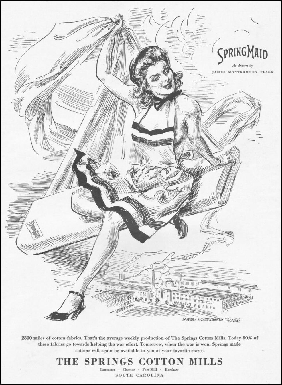 SPRINGMAID FABRICS LIFE 10/25/1943 p. 109