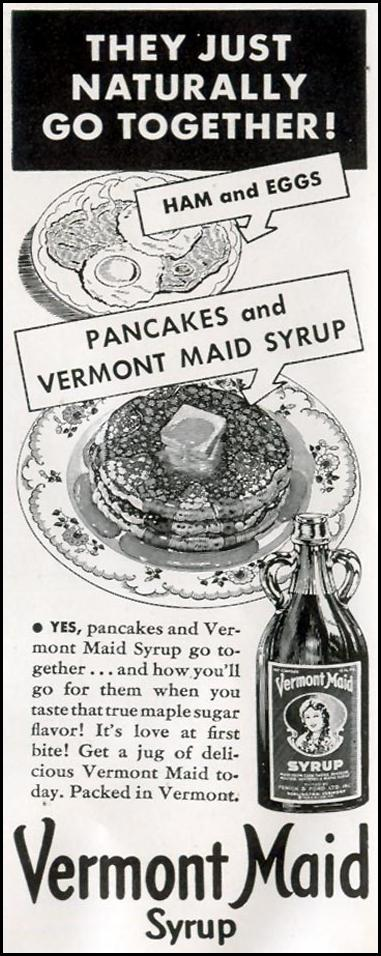 VERMONT MAID SYRUP LIFE 11/30/1942 p. 118