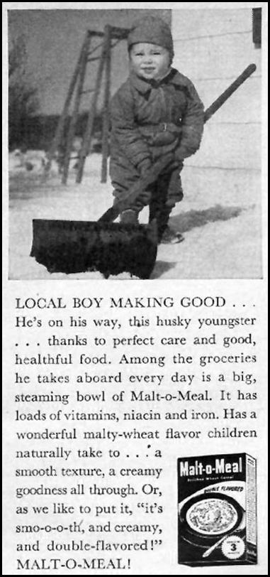 MALT-O-MEAL WOMAN'S DAY 01/01/1949 p. 113