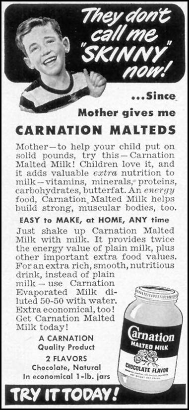 CARNATION MALTED MILK WOMAN'S DAY 05/01/1949 p. 119