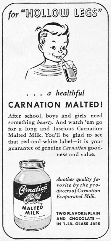 CARNATION MALTED MILK WOMAN'S DAY 10/01/1946 p. 74