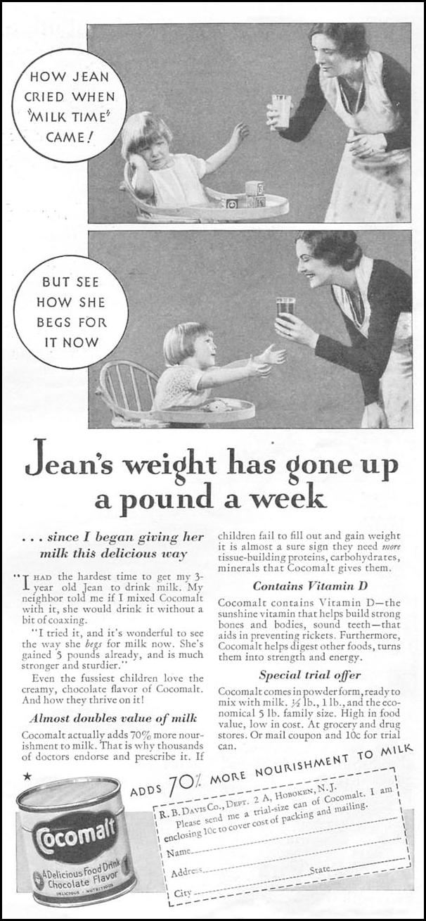 COCOMALT GOOD HOUSEKEEPING 01/01/1932 p. 153