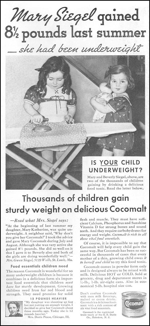 COCOMALT GOOD HOUSEKEEPING 12/01/1934 p. 152